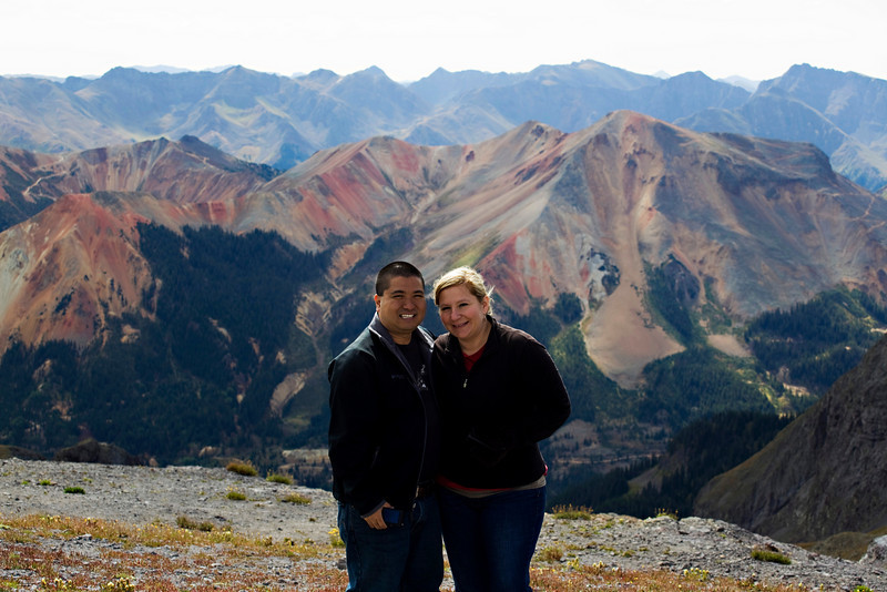 Todd and Autumn at 13,000 feet.