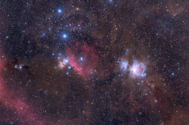 Orion's various nebula