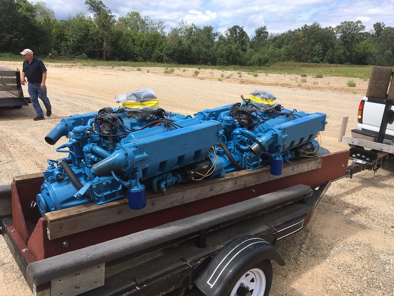 Two completely rebuilt 430 cu in Lincolns with rebuilt transmissions.