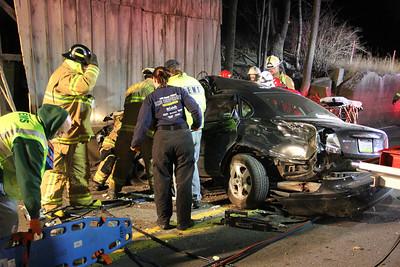 Single Vehicle Accident, SR54, Barnesville, Rush Township (11-24-2013)