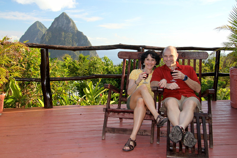 How we spent much of our time (but facing the other way)! -St. Lucia