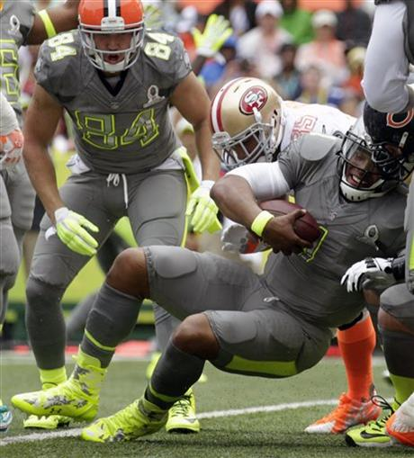 """. <p>3. PRO BOWL <p>Rice-Sanders exhibition sets new standard in irrelevancy. (unranked) <p><b><a href=\'http://www.cbssports.com/nfl/eye-on-football/24420958/nflpa-president-roger-goodell-came-close-to-canceling-pro-bowl\' target=\""""_blank\""""> HUH?</a></b> <p>   (Associated Press)"""