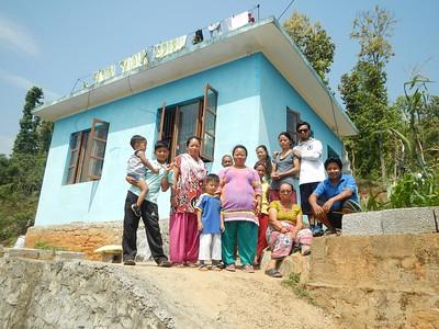 Trishuli homes after earthquake