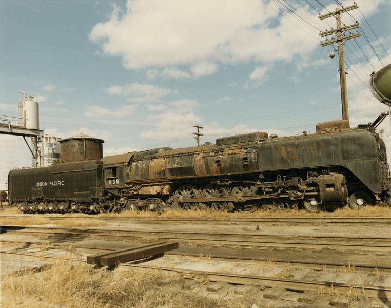 UP 4-8-4 838, Council Bluffs. October 14, 1969. (Dean Gray Photo)