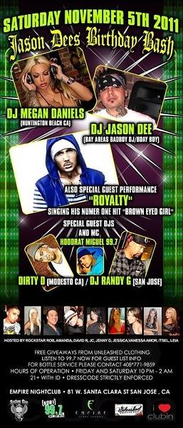 Jason Dee's Birthday Bash @ Empire 11.5.11