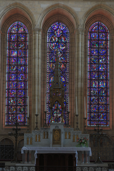Laon Cathedral of Notre-Dame Choir Lancet Windows
