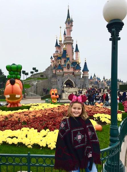 Scarlett by Sleeping Beauty's Castle