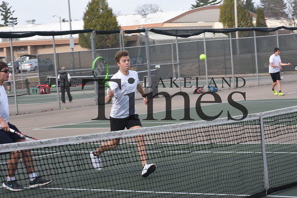 LUHS Boys' Tennis vs. Newman Catholic April 25, 2019