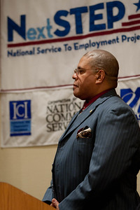Zernial M. Bogan, AmeriCorps Alumni and U.S. Air Force veteran speaks at the summit. Symposium on Service and Inclusion. Corporation for National and Community Service Photo.