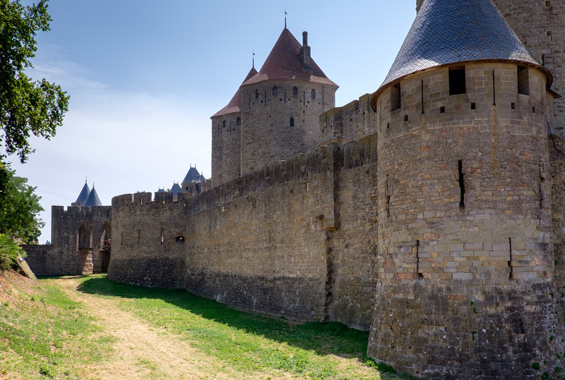 A week's holiday based at St Nazaire near Perpignan, in southern France.  Carcassonne on Friday 17 July 2015.