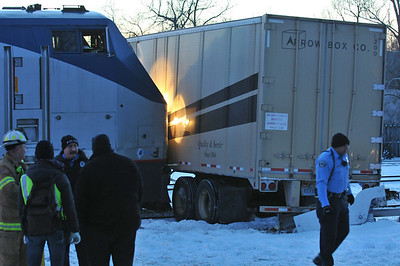 Amtrak Strikes Tractor Trailer