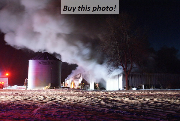 Rural Brooten shed fire 01-25