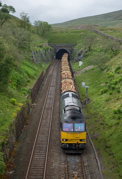 Freight train at Blea Moor