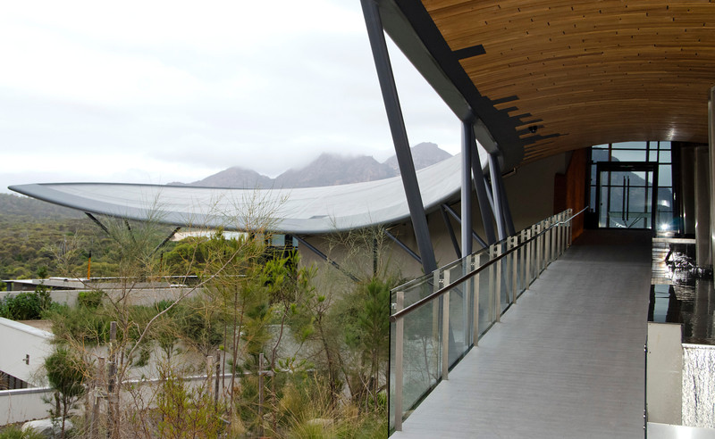 a three hour drive north to Saffire Lodge on the Freycinet Peninsula for three nights Entering the building (4)