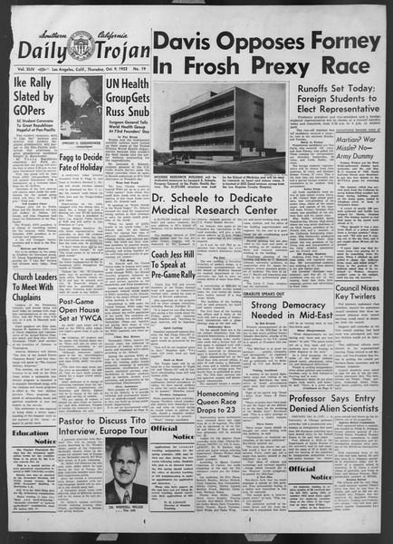 Daily Trojan, Vol. 44, No. 19, October 09, 1952