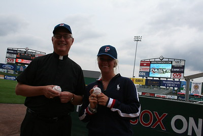 Bishop Tobin throws First Pitch at PawSox 2012