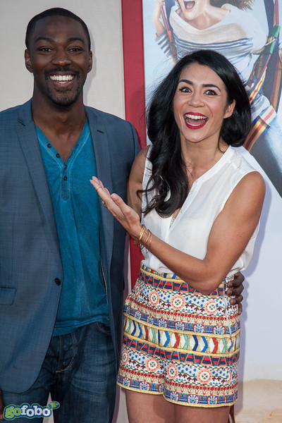 HOLLYWOOD, CA - MAY 21: Actors David Ajala (L) and Michelle Lukes arrive at the Los Angeles premiere of 'Blended' at TCL Chinese Theatre on Wednesday May 21, 2014 in Hollywood, California. (Photo by Tom Sorensen/Moovieboy Pictures)