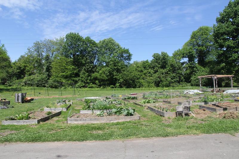 community garden at Bartram's Garden