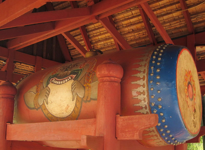 Giant drum at Wat Phnom
