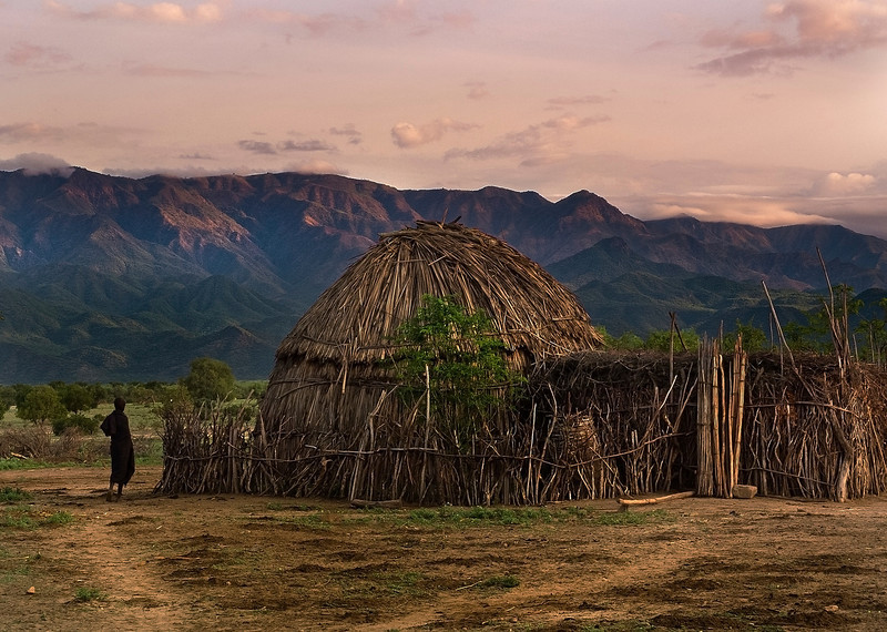 Arbore Village.  Omo Valley, Southern Ethiopia, 2013.