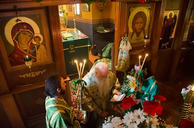 Pentecost & Ordination of Hierodeacon Gabriel (2014)