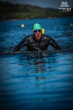 Big Welsh Swim  - Green Hats Finish At Gilfach Ddu
