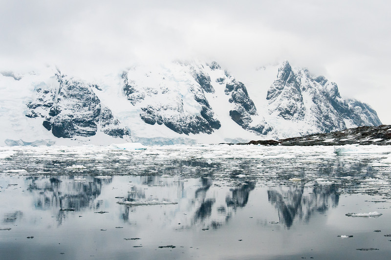 Scenery in the Pleneau Bay, Antarctica
