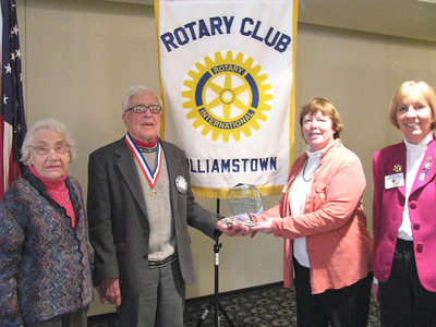 Henry Flynt Jr. receives award from Rotary Club of Williamstown