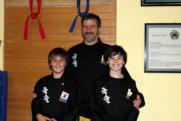 Kuk Sool Ian & AJ black belt, Oct. 29, 2009