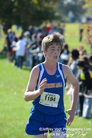 10-18-2014 MCPS Cross Country Championships, Varsity Boys at Bohrer Park, Photos by Jeffrey Vogt Photography