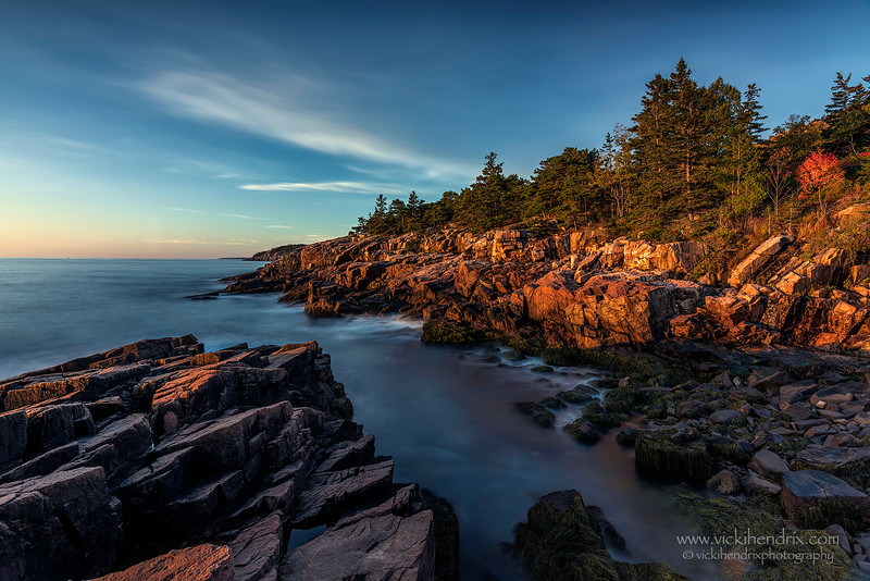 Shortly after sunrise at Newport Cove, Acadia National Park, Maine