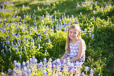 M and J in bluebonnets