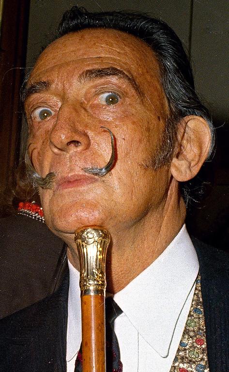 . ** FILE ** Eccentric Spanish painter Salvador Dali is seen in Jan. 1968, location unknown. 20 years ago, on Jan. 23, 1989, Dali died. (AP Photo) ** zu unserem KORR **