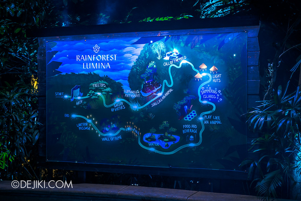 Singapore Zoo Rainforest Lumina - map of the attraction