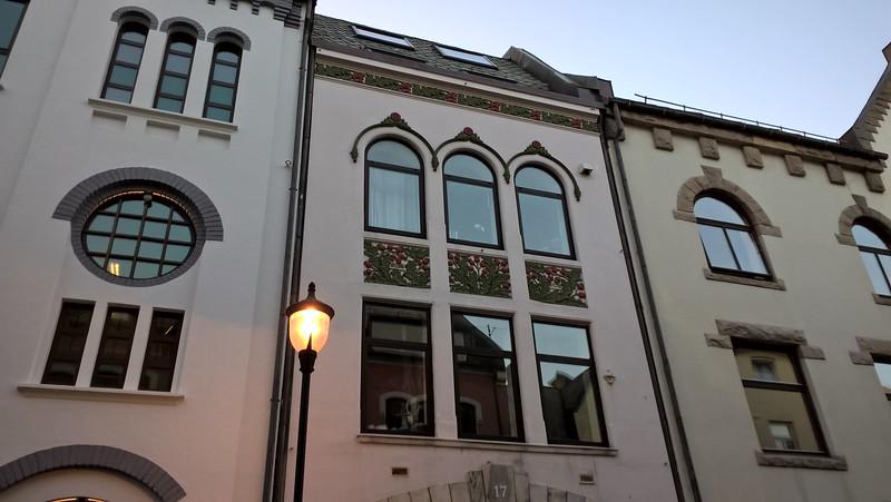 A tour of Alesund, a town of Art Nouveau buildings.