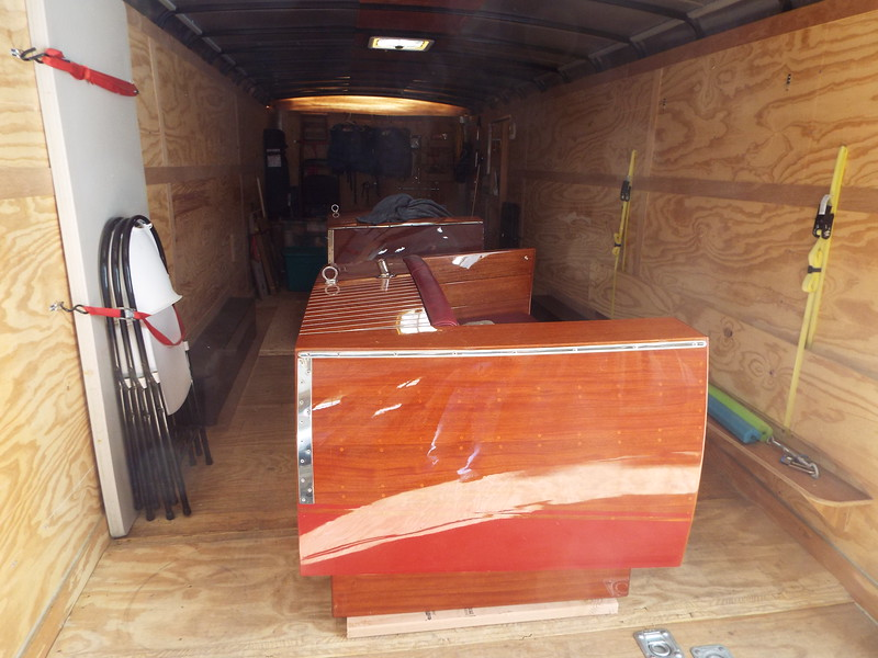 Another view of the furniture being loaded in our trailer.