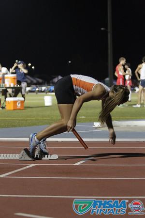 Class 3A - Running Event Finals - Girls 4X400m Relay - Section 1