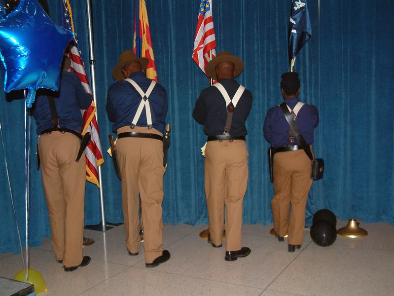 "ARIZONA BUFFALO SOLDIERS, MESA, AZ... Mesa Community College, NAACP Talent Show,"" Mesa, AZ. Buffalo Soldiers of the Arizona Territory - Ladies and Gentlemen of the Regiment.  September 6, 2008"