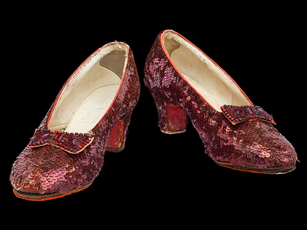 Dorothy's ruby slippers are now too fragile to click together