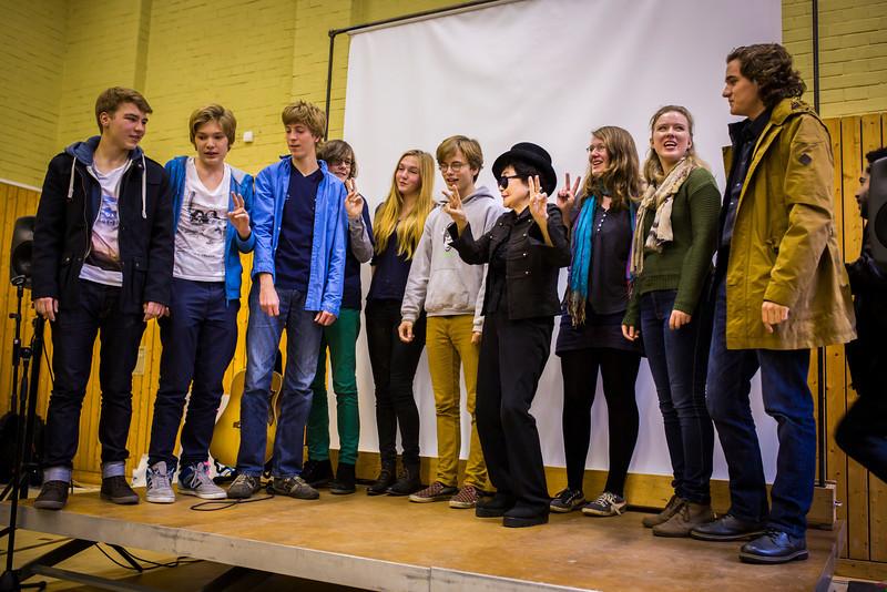 2013_10_15, Berlin, DE, eu.lb.org, Germany, JLETB, John Lennon Gymnasium, Premiere, Video Premiere, Yoko Ono, Students
