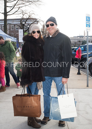 Greenwich Avenue Christmas Shoppers 12-22-13