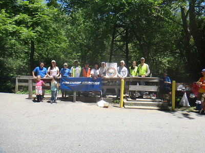 6.22.13 Cleanup Along Patapsco River in Orange Grove With Northrup Grumman & Other PHG Friends