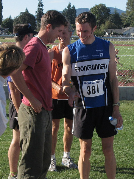 2005 Run Cowichan 10K - Benninger, Hayden and Coolsaet now 4th through 6th