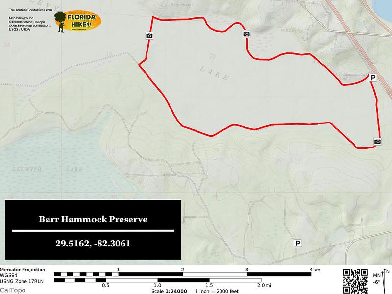 Barr Hammock Preserve Trail Map