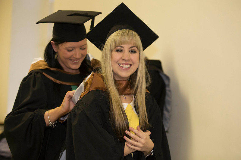 Pictured are Esther O'Rielly, Galway and Grace Power, Waterford who graduated Bachelor of Arts (Hons) in Legal Studies with Business. Picture: Patrick Browne.