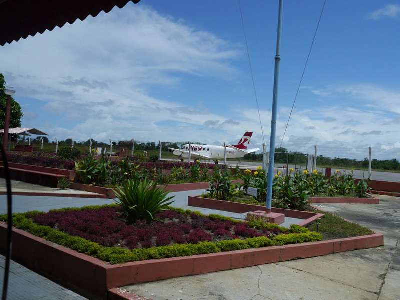 Barcelos Airport - our charter plane awaits