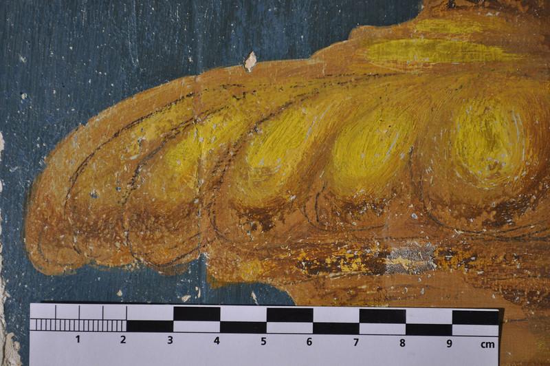 Während des Malvorgangs angebrachte Bleistiftstriche bleiben auch auf der fertigen Malerei sichtbar und sind somit Teil der Darstellung. DSC_0477