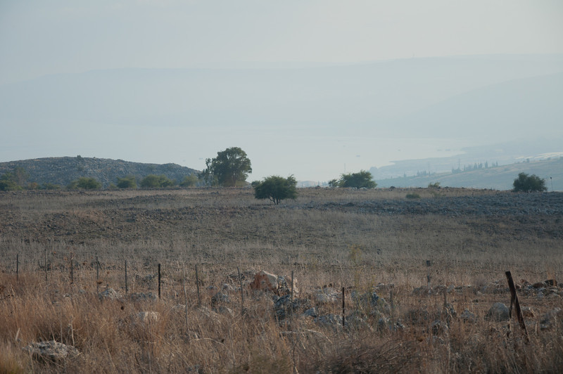 A view of the southern end of the Sea of Galilee in Israel.