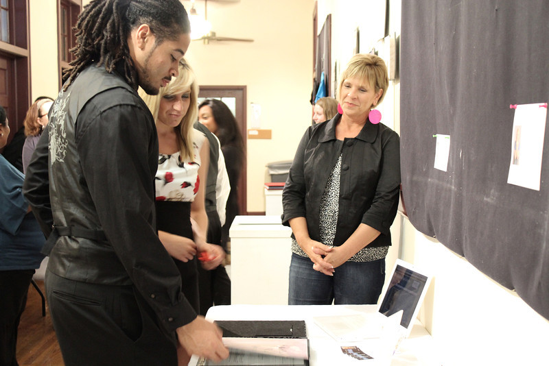 Senior, Communication Major students showcased their work for friends and family Thursday night, April 26, 2012.