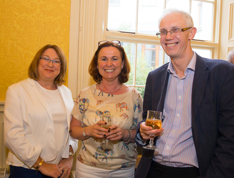 18/05/2016. Irish Accounting & Finance Accociation Annual Conference at WIT (Waterford Institute of Technology). Pictured at The Mayor's reception Ruth Vancelee, Sylvia Dempsey and Ray Donnelly. Picture: Patrick Browne